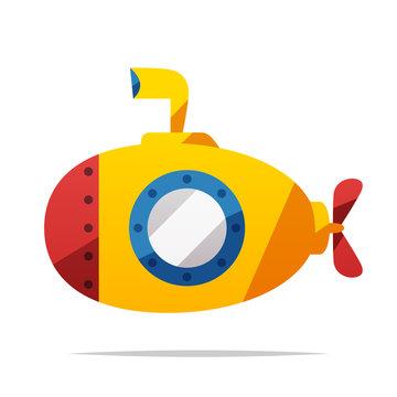 Submarine vector isolated illustration