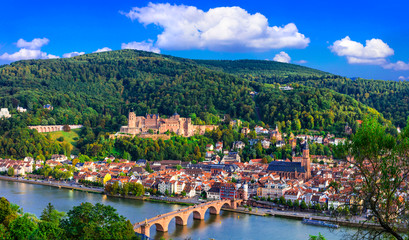 Travel and landmarks of Germany - beautiful medieval town Heidelberg