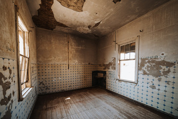 old kitchen room without funiture and equipment before renovation Fotomurales