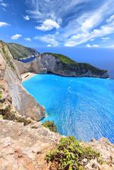 Poster Naufrage Navagio Beach on Zakynthos Island in Greece