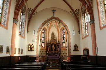 Im Innenraum der Bergkapelle von Illingen