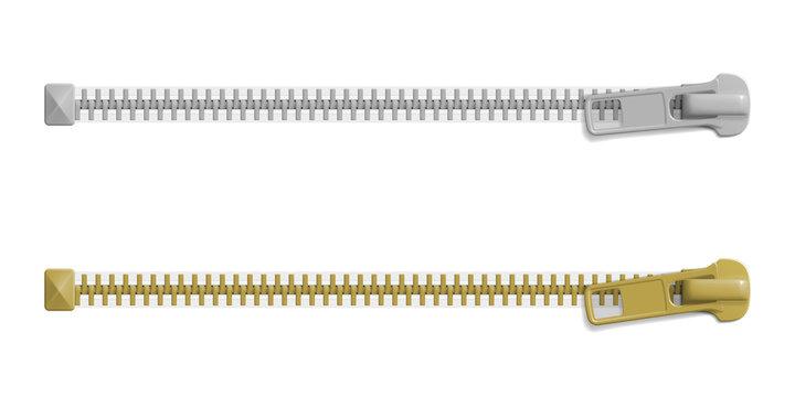 Set of closed zipper locks