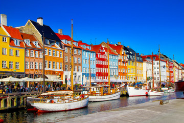 Nyhavn Kopenhagen Dänemark Fototapete