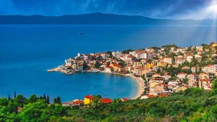 Croatian city in the sunshine