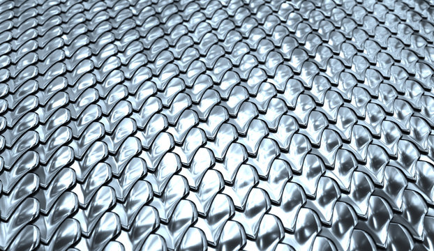 Part of chain mail close-up.