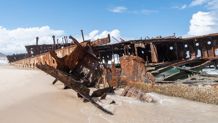 Acrylic Prints Shipwreck Details of the SS Maheno Ship Wreck on Fraser Island