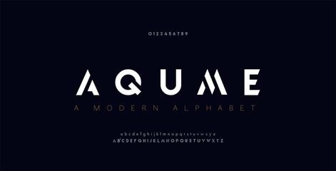 Abstract digital modern alphabet fonts. Typography technology electronic dance music future creative font. vector illustration Fotobehang