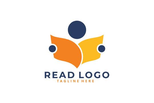 reading logo icon vector isolated