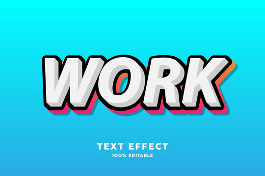 Editable Text effect, Black and red gradient outline text effect