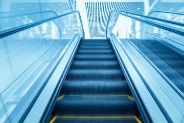 modern escalator motion blur