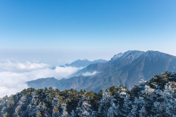 mount lu in early winter Fototapete