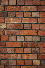 Red and orange brick wall texture