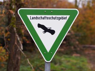 Landschaftsschutzgebiet - Naturraum für gefährdete Arten Fototapete