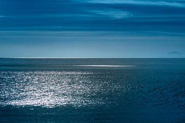 Wall Mural - Blue Mediterranean sea in morning light.