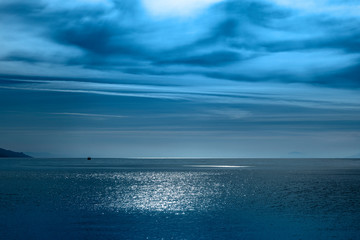 Fototapete - Blue Mediterranean sea in morning light.