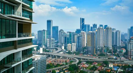 Poster Kuala Lumpur Kuala Lumpur modern business building