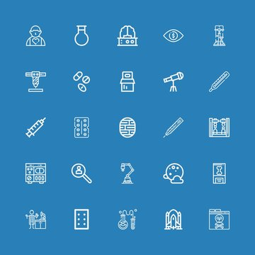 Editable 25 science icons for web and mobile