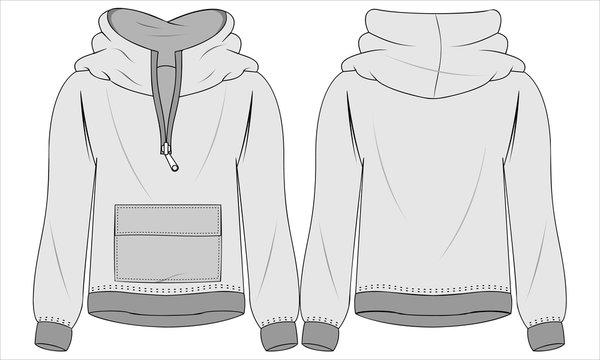 Jacket template 2. Vector illustration
