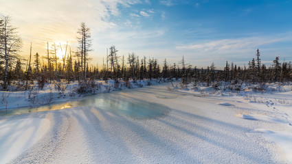 Winter in South Yakutia, Russia.