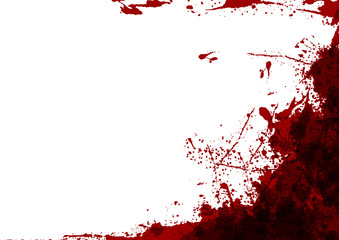abstract vector splatter red color on white color design background. illustration vector design.