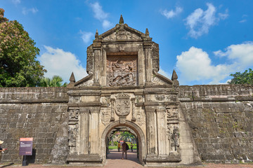 Fort Santiago and Plaza Moriones in Manila - Philippines. The fortress where the poet José Rizal was executed