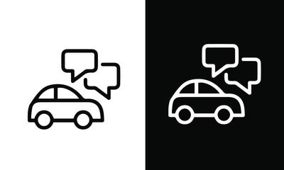 Autonomous car icon vector design black and white