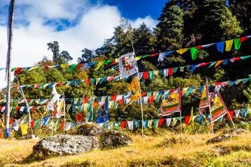 Buddhistische Fahnen