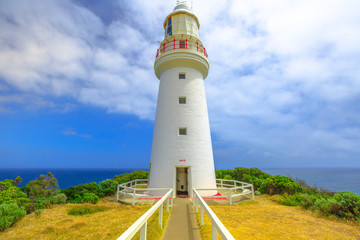 Cape Otway Lighthouse on the cliffs edge along shipwreck coast, is an attraction on the Great Ocean Road in Victoria, and is the oldest lighthouse on mainland Australia and the most significant.
