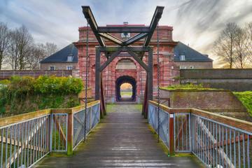 Brücke und Eingangstor zu einer Festung in Wesel