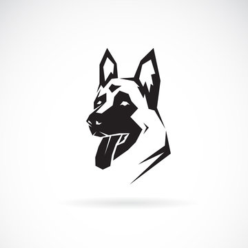 Vector of dog head (German shepherd). Pet. Animals.