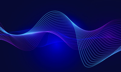 abstract blue wavy background with line wave, can be used for banner sale, wallpaper, for, brochure, landing page.