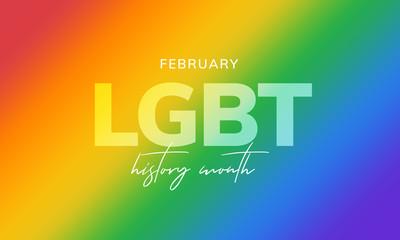 LGBT history month. Background, poster, postcard, banner design.