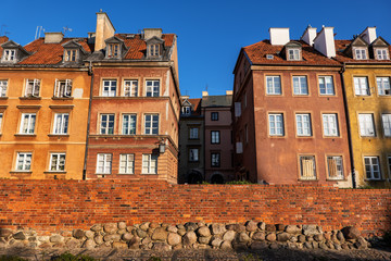 Old Town of Warsaw in Poland