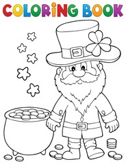 Photo sur Aluminium Enfants Coloring book St Patricks Day theme 2