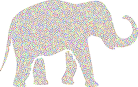 Elephant in the vector showing passion, love and romance.