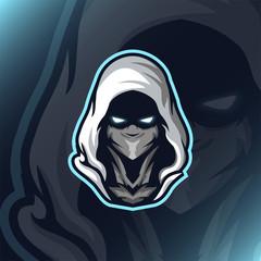 Assassin Reaper Head Mascot Gaming Esport Logo Illustration Template