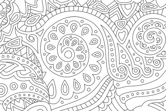 Art for coloring book page with abstract pattern