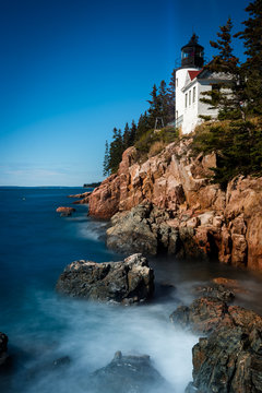 Bass harbor head lighthouse in Acadia national park