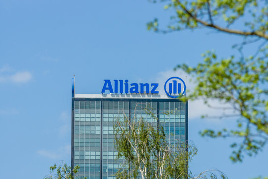 BERLIN, GERMANY - MAY 08, 2016: The Allianz complex in Alt-Treptow. Allianz is a German multinational financial services company, the largest insurance company in the world.