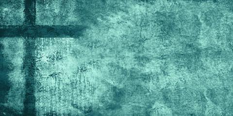 teal cross grunge texture backdrop