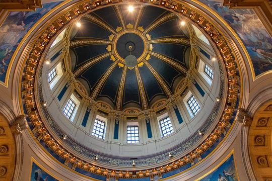 Inside the Dome of the Saint Paul Minnesota Capitol Building