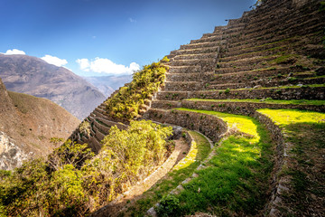 Foto op Canvas Donkergrijs Choquequirao Inca ruins in Peru