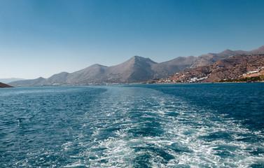 Fotobehang Zuid Afrika sea view, beautiful summer landscape, Greece
