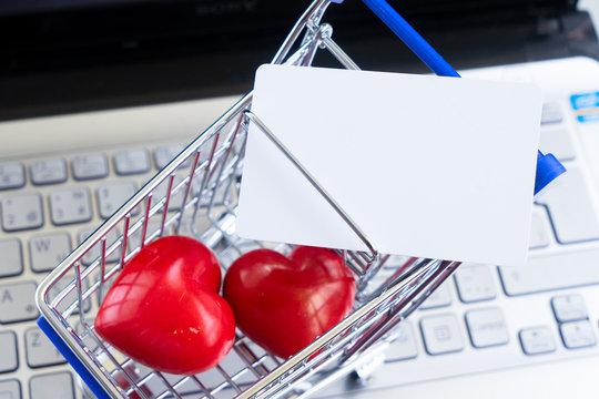 Valentines day shopping