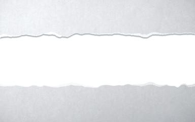 Rip gray paper