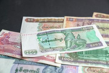 Myammar Kyat bank notes