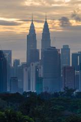 Deurstickers Kuala Lumpur kuala lumpur city skyline during sunrise