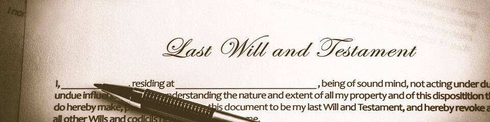 Last Will And Testament Document With Pen - Death And Inheritance Concept