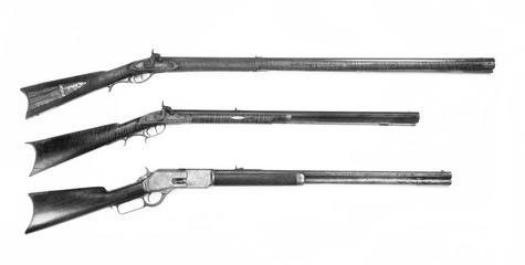 Three Antique Rifles made from 1840 to 1876.