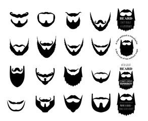 beard vector set collection graphic clipart design